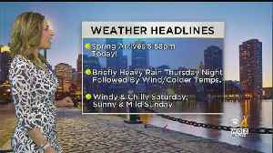 WBZ Midday Forecast For March 20 [Video]