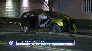 2 injured in car crash during police chase in Detroit [Video]