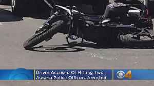 2 Auraria Police Officers Injured In Hit & Run, Suspect Leaves Driver's License Behind [Video]