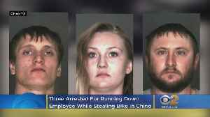 Three Arrested For Running Down Employee While Stealing $10K Bike In Chino [Video]