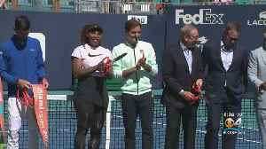 Ribbon Cutting Ceremony Held At Miami Open [Video]