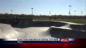 Skate Park now open at Central City Park for skateboarders and bicyclists [Video]