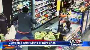 Two Arrested After String of Burglaries [Video]