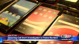 Spoofing call from investigator's phone number [Video]