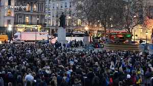 Londoners attend vigil in Trafalgar Square to pay tribute to victims of Christchurch attacks one week on [Video]