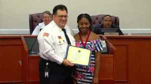 St. Lucie County Fire District honors child for saving family from fire [Video]