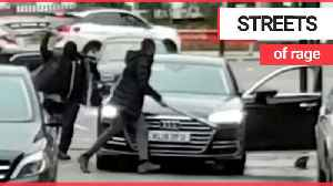 Two men smash each others' cars in broad daylight using baseball bat and machete [Video]