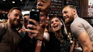 Conor McGregor Proves He's a 'Proper' Lad by Taking Photos with Fans [Video]