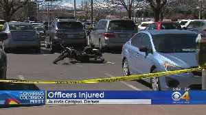 2 Auraria Police Officers Injured In Hit & Run [Video]