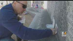 Crews Look For Solutions To Clean Vandalized WWII Memorial [Video]