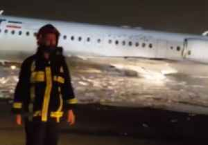 Plane Catches Fire During Landing at Tehran's Mehrabad Airport [Video]