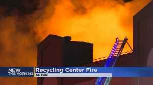 Crews Battle Fire At St. Paul Paper Recycling Plant [Video]