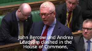 John Bercow and Andrea Leadsom clash in Commons row [Video]