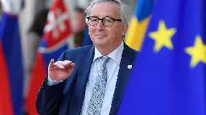 News video: 'Are you Theresa May?': Juncker jokes with journalists ahead of Brexit talks