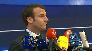 Watch: Macron gives his view on possible Brexit extension [Video]