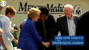 WEB EXTRA: Jimmy Carter Becomes Country's Oldest Living President [Video]