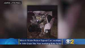 Illinois State Police Trooper, Squad Car Struck; 14th Crash This Year Involving State Police Vehicle [Video]
