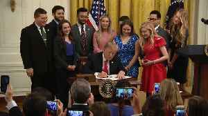 Raw Video: Trump Signs Executive Order On Campus Free Speech [Video]