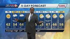 Friday will be warm; rain chances increase this weekend [Video]