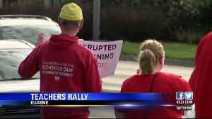 Eugene teachers rally for fully-funded schools [Video]