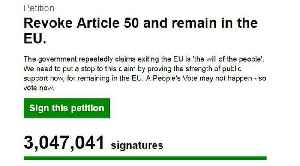 Brexit: Petition to remain in the EU hits 3 million signatures [Video]