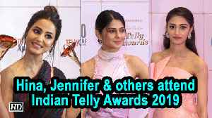 Hina Khan, Jennifer Winget and others attend Indian Telly Awards 2019 [Video]