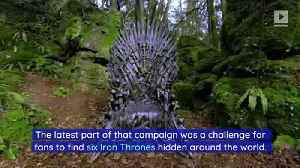 First Iron Throne Found in 'Game of Thrones' Challenge [Video]