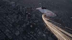 Wingsuits swoop over Los Angeles skyscrapers during supermoon night sky [Video]