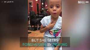 Adorable girl prays every time she misbehaves [Video]