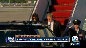 NOW: President Trump en route to South Florida to meet with Caribbean leaders at Mar-a-Lago [Video]