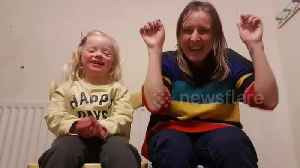 Mum and cute 4-year-old daughter with down syndrome sign 'happy' in Makaton [Video]
