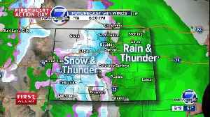 A mild and moist Spring storm for Colorado [Video]