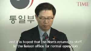 North Korea Abruptly Withdrew Its Staff From an Inter-Korea Liaison Office, Seoul Says [Video]