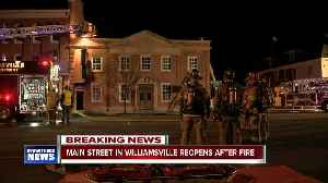 Main Street in Williamsville back open after small fire partially shut down road [Video]