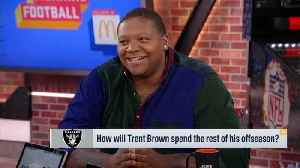 Oakland Raiders offensive lineman Trent Brown breaks down record-setting deal with Raiders [Video]
