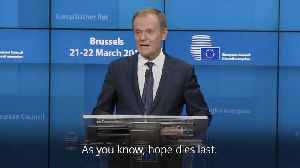 Donald Tusk: EU is 'prepared for the worst' on Brexit [Video]