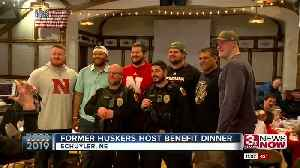 Former Huskers say thanks to first responders in Schuyler [Video]