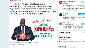NBA star 'Shaq' O'Neal joins Papa John's board [Video]
