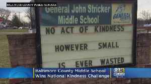 Baltimore County Middle School Wins National Middle School Kindness Challenge [Video]