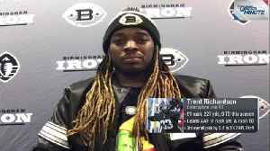 Birmingham Iron running back Trent Richardson previews upcoming matchup with quarterback Johnny Manziel, Memphis Express [Video]