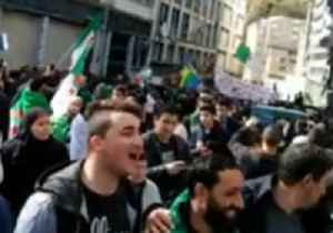 Algerians Protest For the Fifth Friday in a Row Against President Extending Fourth Term [Video]