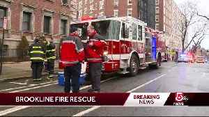 Elderly man rescued from apartment in Brookline fire [Video]