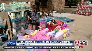 Girl Donates toys to flood victims [Video]