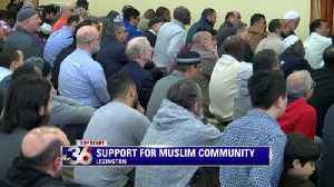 Hundreds gather to support local Muslim community [Video]