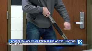 Frontier School Corporation staff goes through active shooter training [Video]