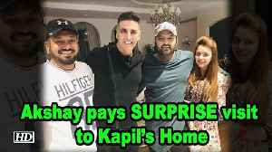 Akshay Kumar pays SURPRISE visit to Kapil Sharma's Home [Video]