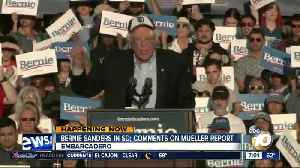 Bernie Sanders in SD; comments on Mueller report [Video]