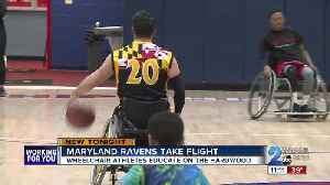 Maryland Ravens Wheelchair Basketball teaching lessons on the court [Video]