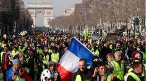 'Yellow Vests' March In Paris As Troops Join Police to Prevent Trouble [Video]