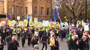 Hundreds of thousands of anti-Brexit protesters march in London [Video]